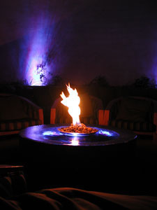 fire and water outdoor table