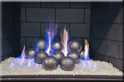 Silver coated fireballs for your fireglass fireplace fireglass ...
